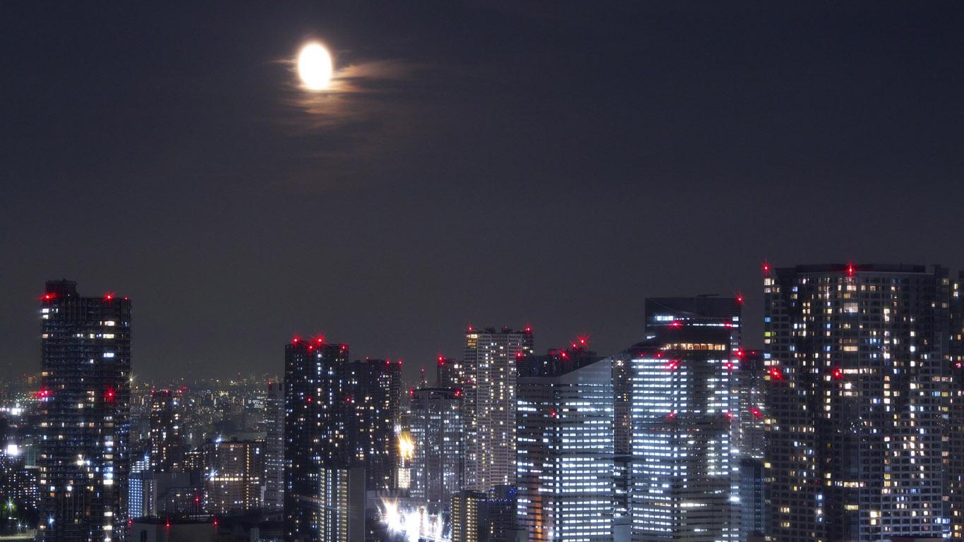 Обои рабочего стола огни ночного города