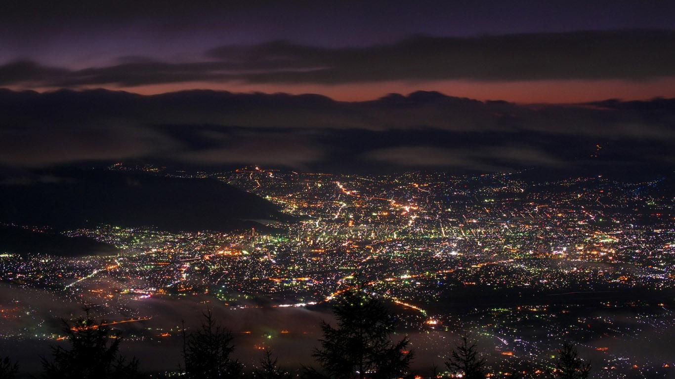 Обои ночные огни, ночной город, Пейзаж. Города foto 18