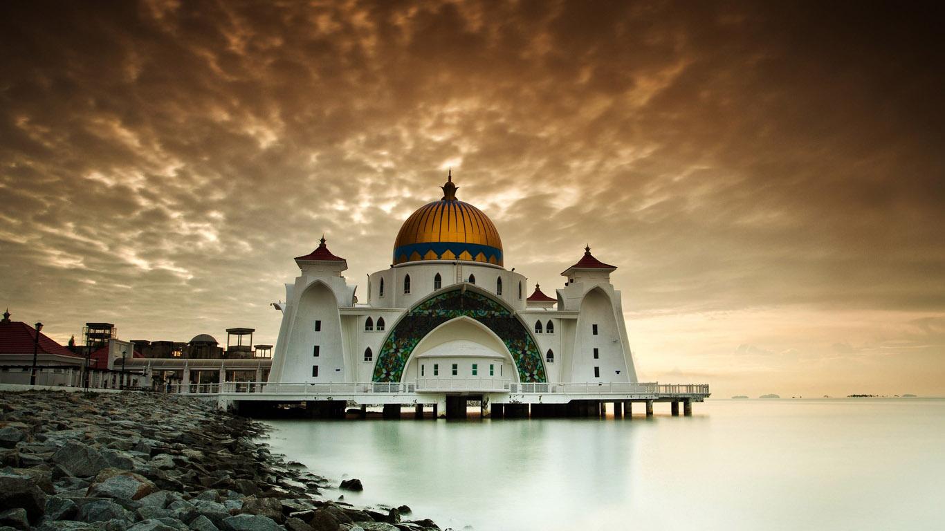 Обои для рабочего стола красивая мечеть