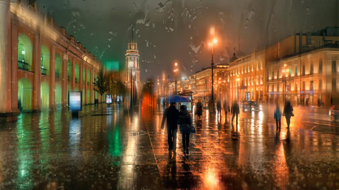 Обои дождь, чехия. Города foto 14