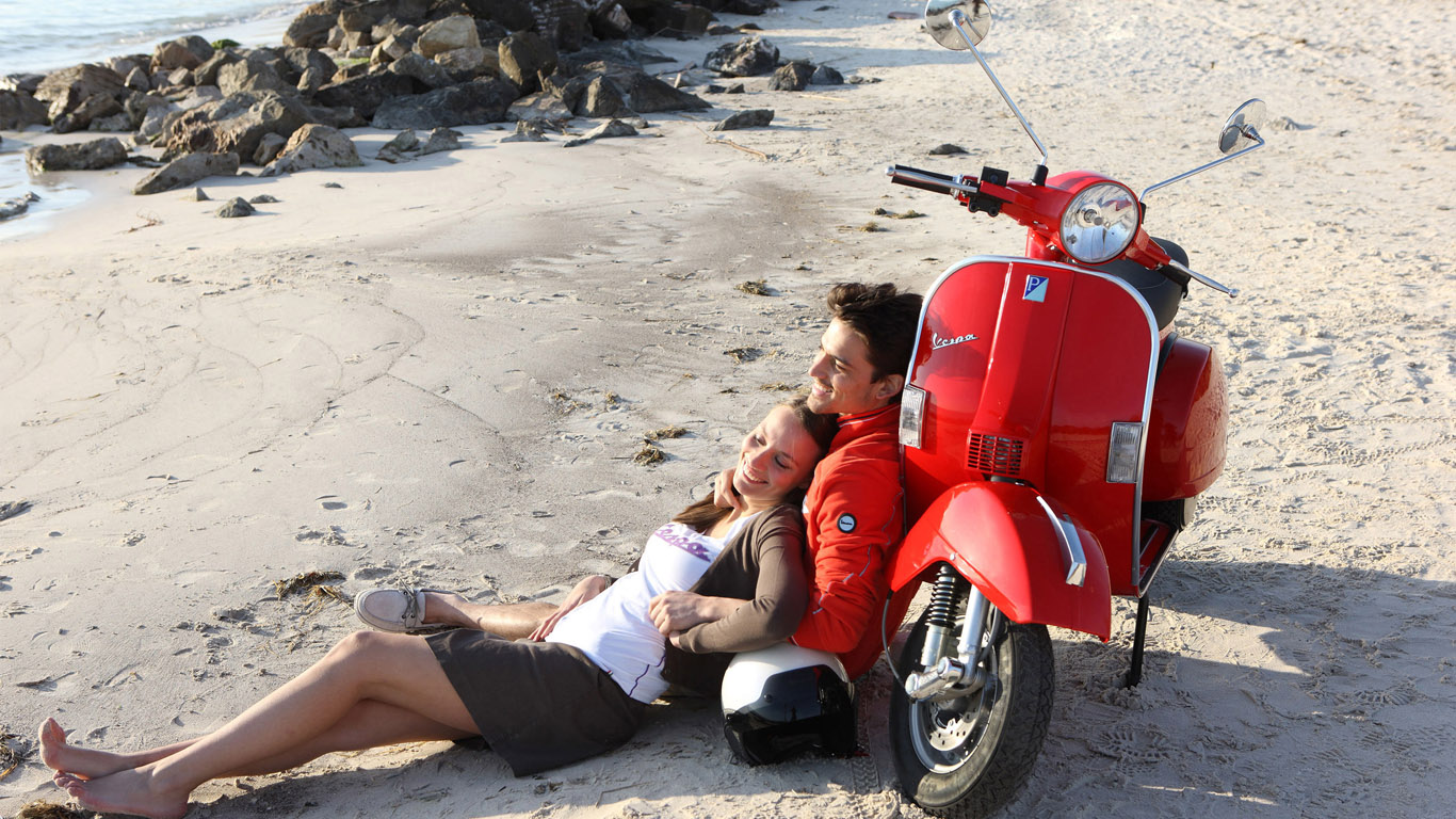 Любовь романтика обои 1366х768 на