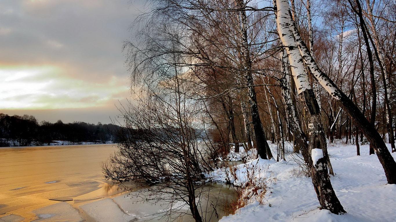 Зимний пейзаж обои на рабочий стол — 12