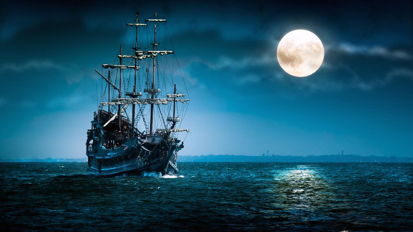черно белые обои 252 корабли обои 1366х768 ...: www.1366x768.ru/ship-4.php