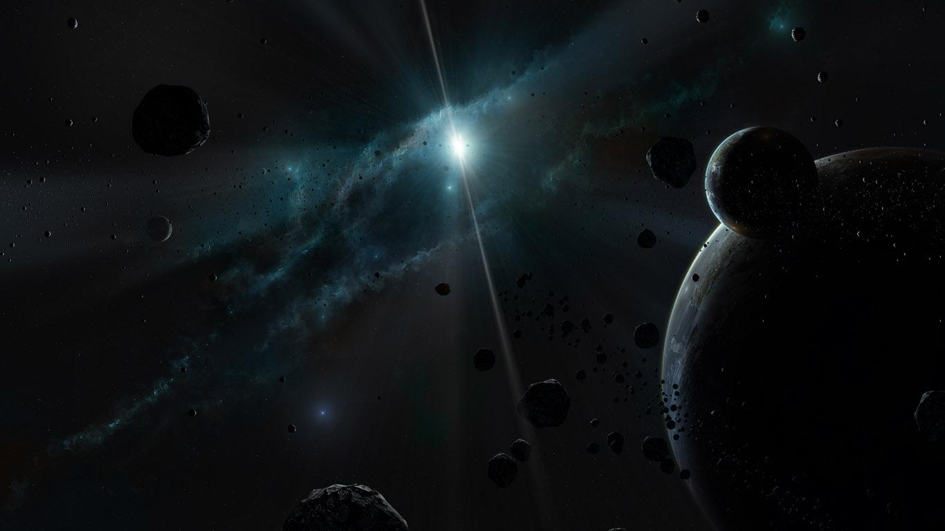 Черно белые обои 252 космос обои 1366х768